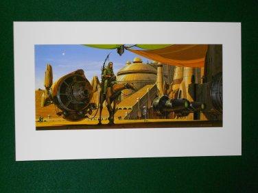 Star Wars Phantom Menace 1999 Doug Chiang Portfolio Print #11 Anakin & Podracer