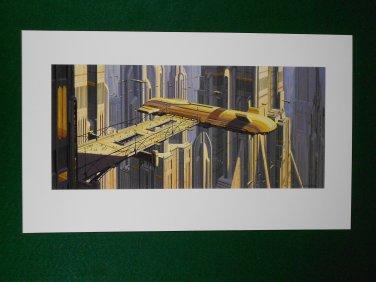 Star Wars Phantom Menace 1999 Doug Chiang Portfolio Print #14 Theed City