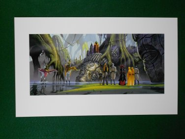 Star Wars Phantom Menace 1999 Doug Chiang Portfolio Print #15 Meeting the Boss