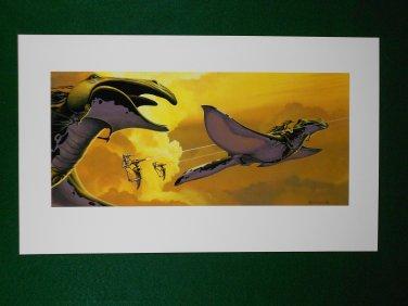 Star Wars Phantom Menace 1999 Doug Chiang Portfolio Print #18 Gungans in the Sky