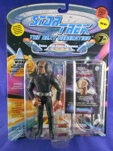 Star Trek STNG 7th Season - 1994 Worf �Rescue Outfit� - Playmates � MIMP � W/Pog