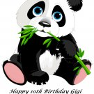 Cute Panda Bear  Party Edible image Cake topper