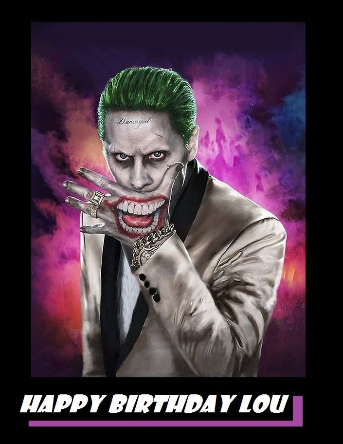 Suicide Squad Joker  Edible Cake topper decoration