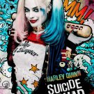 Suicide Squad Harley Quinn Graffiti Party  Edible image Cake topper decoration
