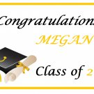 Congratulations Graduate Personalized Edible image Cake topper decoration