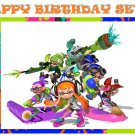 Splatoon Party Edible image Cake topper