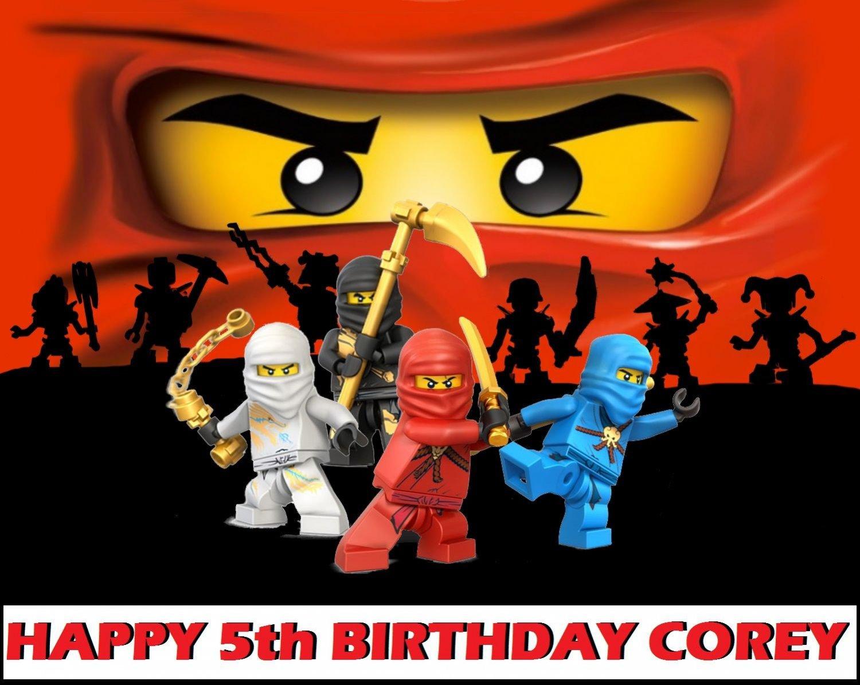 Ninjago Ninja Party Edible image Cake topper