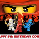 Ninjago Ninja Party Edible image Cake topper