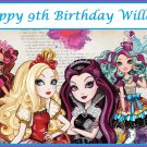 Ever After High Party Edible image Cake topper decoration