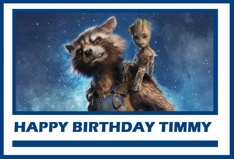 Guardians of the Galaxy 2 Baby Groot & Rocket Raccoon Edible Cake topper