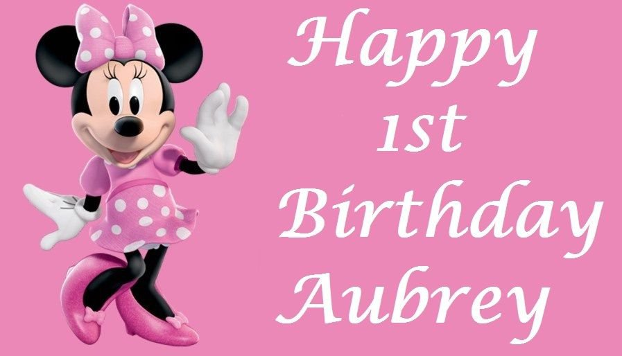 Minnie Mouse Pretty in Pink Edible image Cake topper decoration
