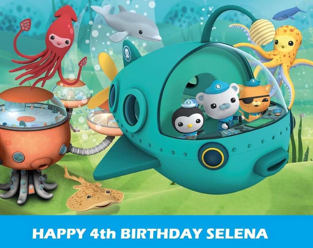 OCTONAUTS Party Edible image Cake topper