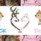 Buck or Doe Gender Reveal Baby Shower Edible Cake topper decoration