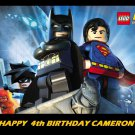 Lego Batman w/ Superman Edible image Cake topper decoration