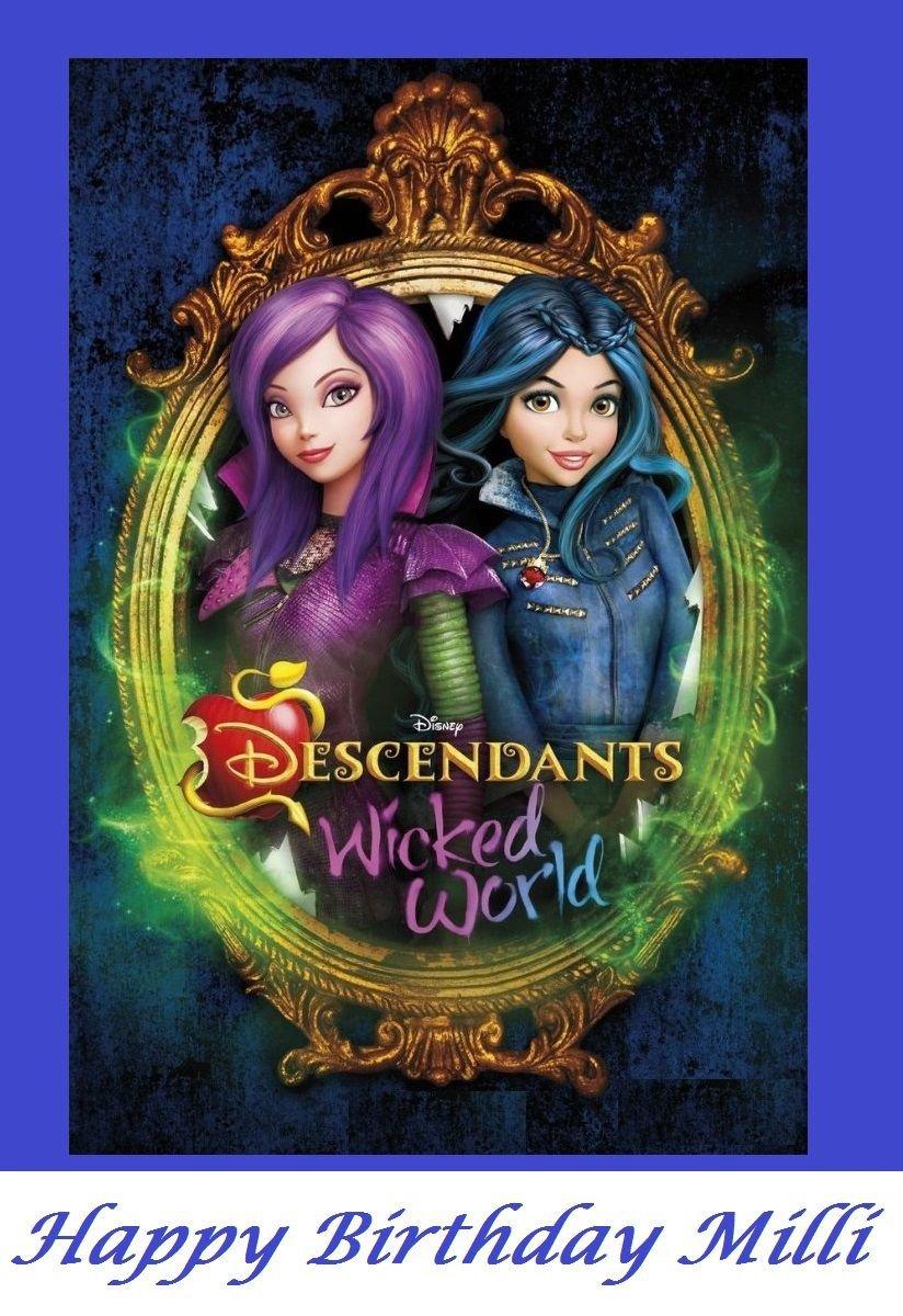 Disney Descendants Wicked World Edible image Cake topper decoration