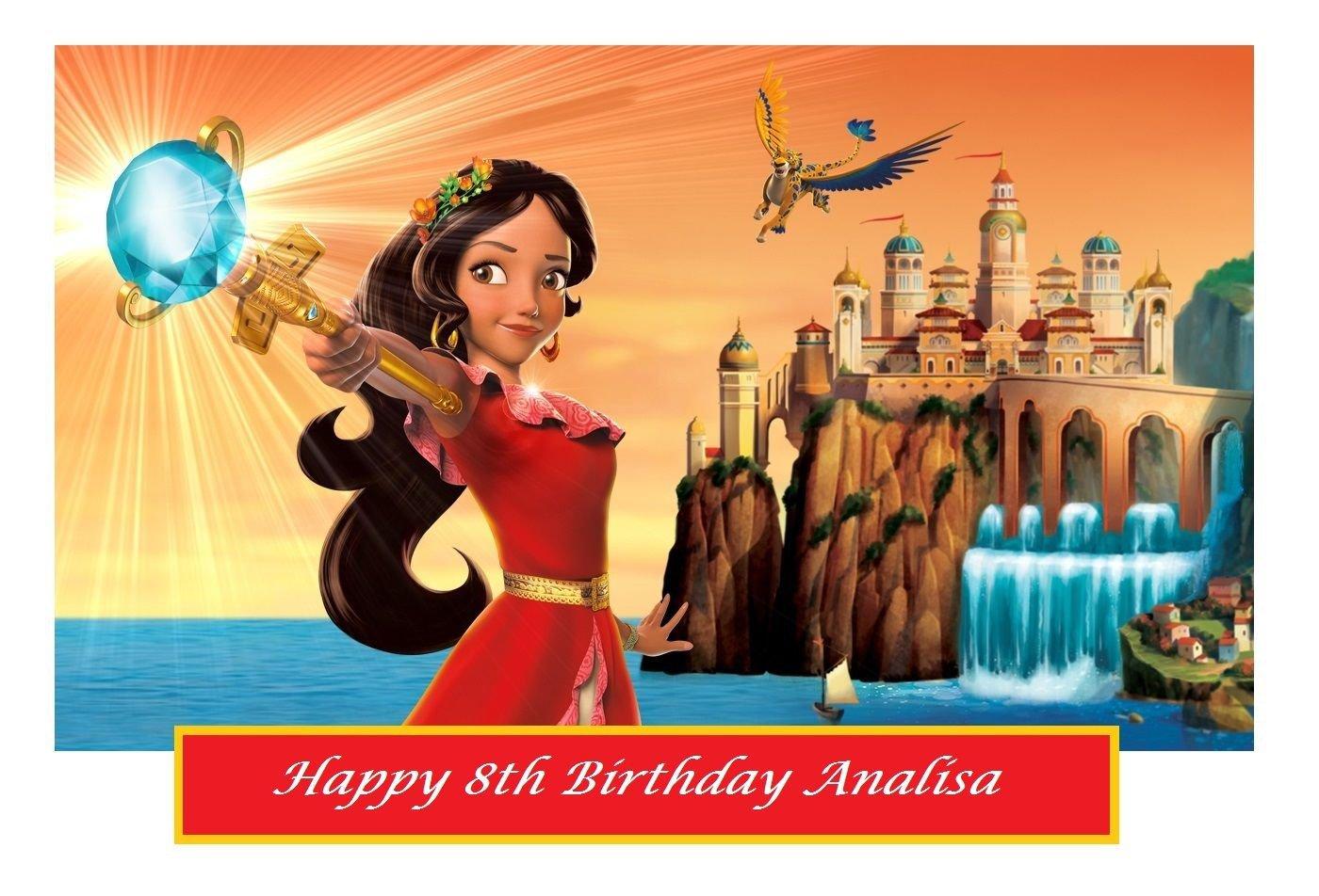 Disney Elena of Avalor Party  Edible image Cake topper decoration