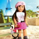 American Girl in Paris Edible image Cake topper decoration