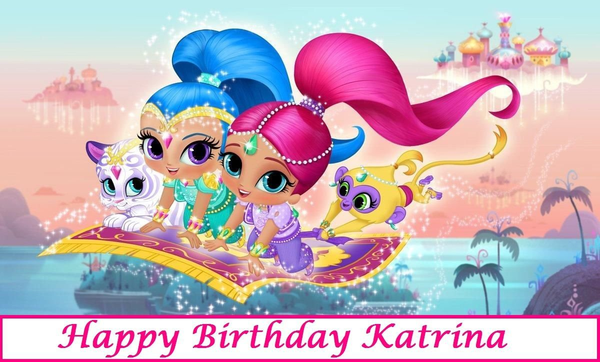 Shimmer and Shine   Edible image Cake topper decoration