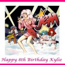 Jem and the Holograms Party  Edible image Cake topper