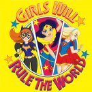 Super Hero Girls , Girls Rule Edible image Cake topper decoration
