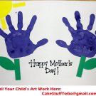 Create Your Own Custom Mother's Day w/ Art Edible image Cake topper decoration