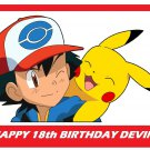 POKEMON Pikachu and Ash Party Edible image Cake topper decoration