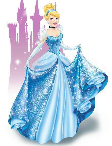 Cinderella with Castle Edible image Cake topper decoration