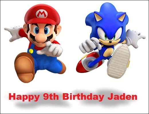 Sonic and Mario Edible image Cake topper decoration