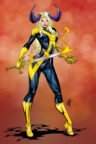 "Custom 3.75"" Marvel MAGIK Demon Form figure - poseable & MADE TO ORDER"