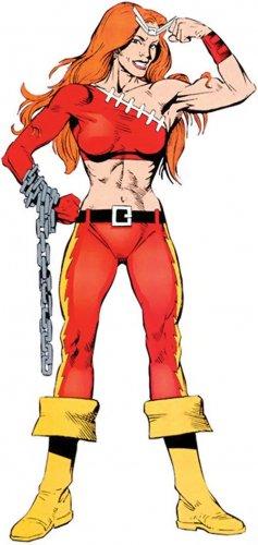 "Custom 3.75"" Marvel THUNDRA figure - poseable & MADE TO ORDER"