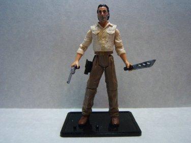 "Custom 3.75"" The Walking Dead RICK GRIMES figure - poseable & ready to go"