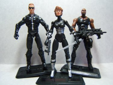 "Custom 3.75"" RESIDENT EVIL LOT 3 figures - poseable & ready to go"