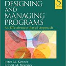 Ebook 978-1483388304 Designing and Managing Programs: An Effectiveness-Based Approach (SAGE Sourc