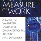 Ebook 978-0761924258 Taking the Measure of Work: A Guide to Validated Scales for Organizational R