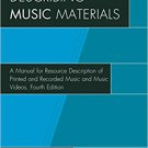 Ebook 978-1442276277 Describing Music Materials: A Manual for Resource Description of Printed and