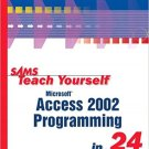 Ebook 978-0672320989 Sams Teach Yourself Microsoft Access 2002 Programming in 24 Hours