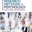 Ebook 978-1483343761 Research Methods in Psychology: Investigating Human Behavior