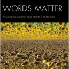 Ebook 978-1442223417 Words Matter: Teacher Language and Student Learning
