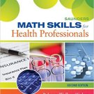 Ebook 978-0323322485 Saunders Math Skills for Health Professionals