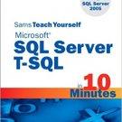 Ebook 978-0672328671 Sams Teach Yourself Microsoft SQL Server T-SQL in 10 Minutes