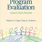 Ebook 978-1412939843 Agency-Based Program Evaluation: Lessons From Practice