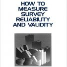 Ebook 978-0803957046 How to Measure Survey Reliability and Validity (Survey Kit)