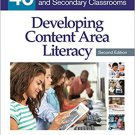 Ebook 978-1483347646 Developing Content Area Literacy: 40 Strategies for Middle and Secondary Cla