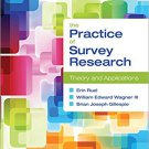 Ebook 978-1452235271 The Practice of Survey Research: Theory and Applications