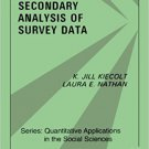 Ebook 978-0803923027 Secondary Analysis of Survey Data (Quantitative Applications in the Social S