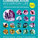 Ebook 978-1506350240 Communication in Everyday Life: The Basic Course Edition With Public Speakin