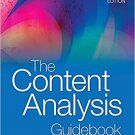 Ebook 978-1412979474 The Content Analysis Guidebook