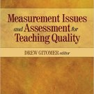 Ebook 978-1412961448 Measurement Issues and Assessment for Teaching Quality