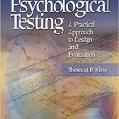 Ebook 978-1412905442 Psychological Testing: A Practical Approach to Design and Evaluation