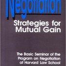 Ebook 978-0803948501 Negotiation: Strategies for Mutual Gain